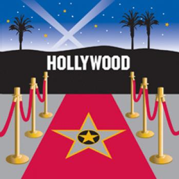 Hollywood - Serivette 33x33 cm