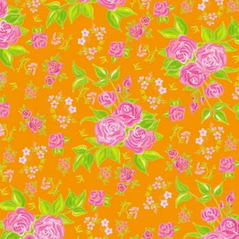 Little Spring Roses orange - Servietten 33x33 cm
