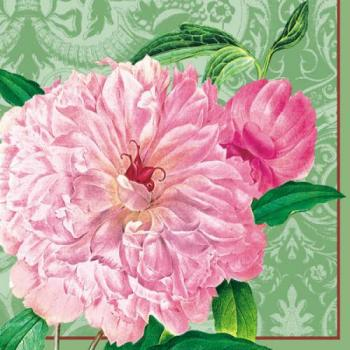 Farmer´s Rose green - Servietten 33x33 cm