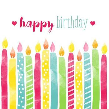 Birthday Candles – Servietten 33x33 cm