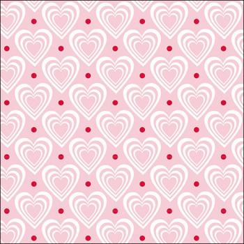 Hearts in Heart pink - Servietten 33x33 cm