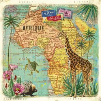 Travel to Afrika - Servietten 33x33 cm
