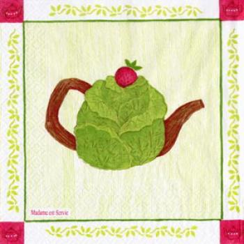 Tea Cabbage - Servietten 33x33cm