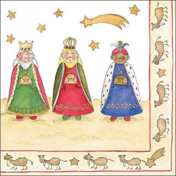 Three Wise Kings - Servietten 33x33 cm