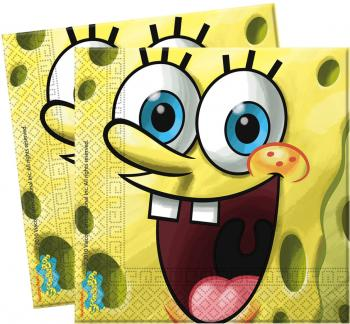 Spongebob´s Party - Servietten 33x33 cm