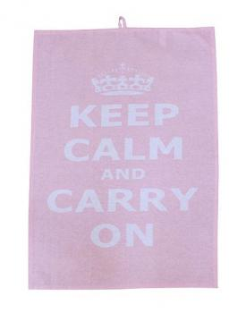 Küchentuch - Keep calm - Pink