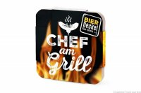 Bierdeckel Chef am Grill 6er Set