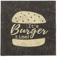 Burger Time Servietten 33x33 cm