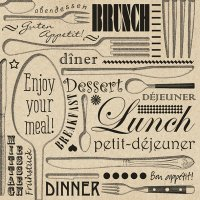 Enjoy your meal Servietten 33x33 cm