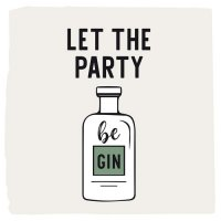 Let the party be GIN Servietten 33x33 cm
