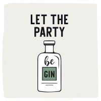 Lets the party be Gin Servietten 25x25 cm