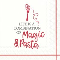 Magic and Pasta red Servietten 33x33 cm