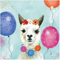 Party  Lama Servietten 33x33 cm