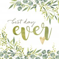 best day ever Servietten 33x33 cm