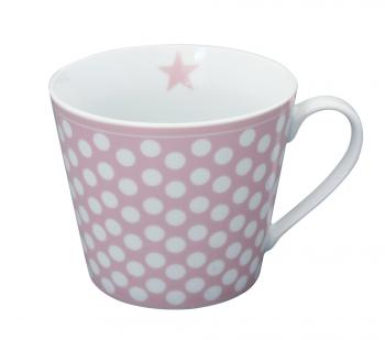 Pink Big dots – Happy cup Krasilnikoff Tasse