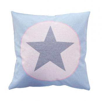 Blue big star – Cushion cover Krasilnikoff Kissenbezug