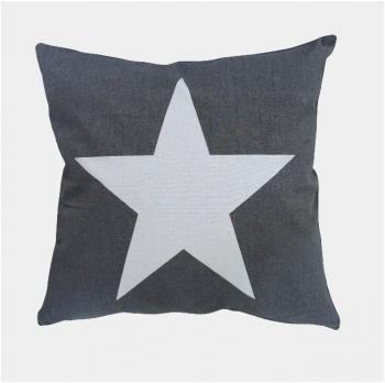 Big Star charcoal – Cushion cover Krasilnikoff Kissenbezug