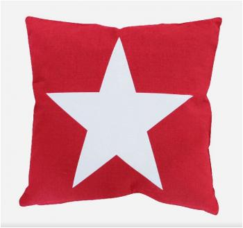 Big Star red – Cushion cover Krasilnikoff Kissenbezug