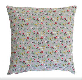 Grey mille fleurs – Cushion cover Krasilnikoff Kissenbezug