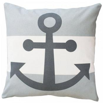 Anker grau – Cushion cover Krasilnikoff Kissenbezug