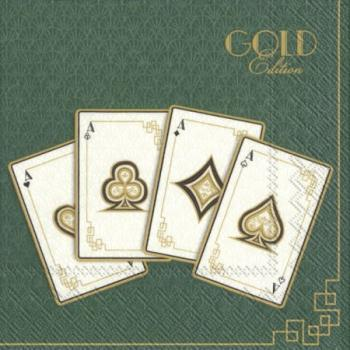 Poker gold edition - Servietten 33x33 cm