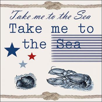 Take me to the sea - Servietten 33x33 cm