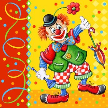 Clown – Servietten 33x33 cm