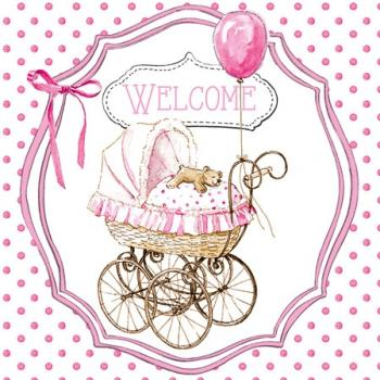 Welcome pink – Servietten 25x25 cm