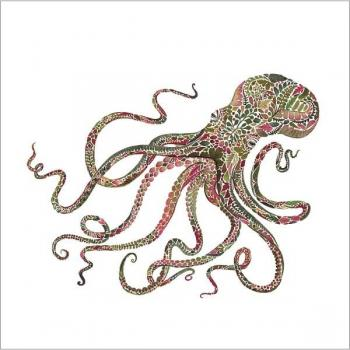 Green Octopus – Servietten 33x33 cm