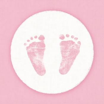 Baby steps girl - Servietten 33x33