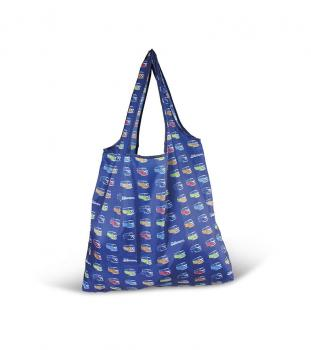 VW T1 Bus Shopper Tasche Bulliparade blau