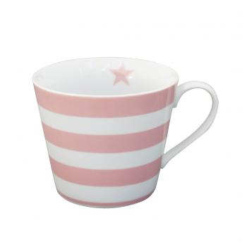 Pink stripes – Happy cup Krasilnikoff Tasse