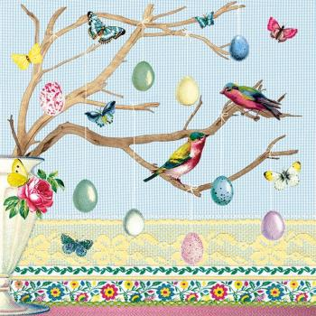 Easter Branch Blue - Servietten 33x33 cm