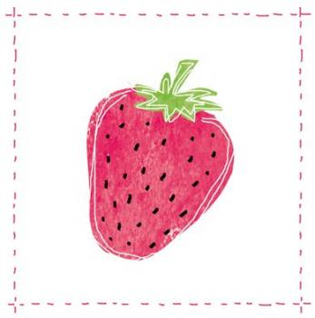 Fashion Strawberry - Servietten 33x33 cm