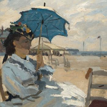 Beach at Trouville - Servietten 33x33 cm