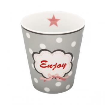 Happy Mugs - Enjoy, grey