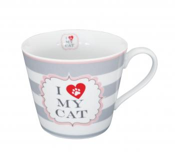 Cat with stripes – Happy cup Krasilnikoff Tasse
