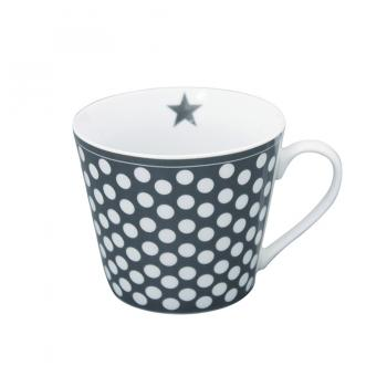Charcoal Big dots – Happy cup Krasilnikoff Tasse