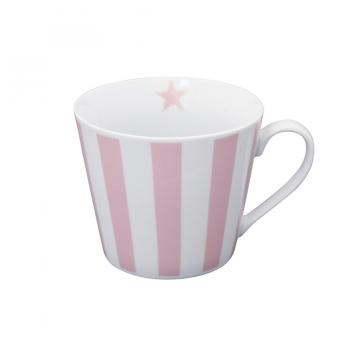 Pink vertical stripes – Happy cup Krasilnikoff Tasse