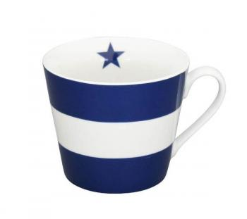 Mega stripes dark blue – Happy cup Krasilnikoff Tasse