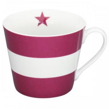 Mega Stripes plum – Happy cup Krasilnikoff Tasse