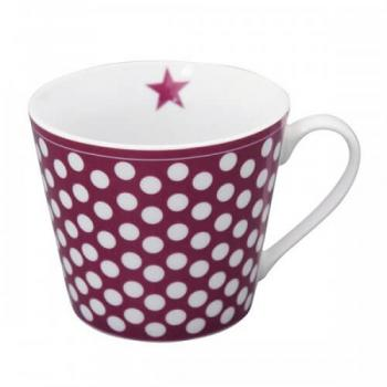Plum Big dots – Happy cup Krasilnikoff Tasse