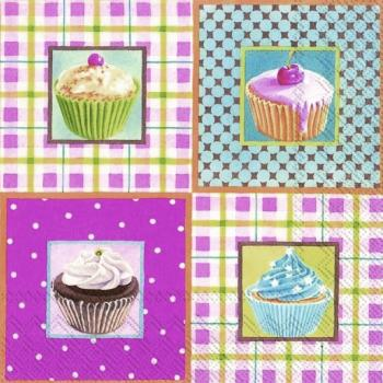 Little cupcakes - Servietten 33x33 cm