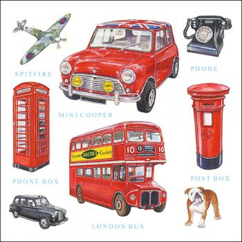London Icons - Servietten 33x33 cm