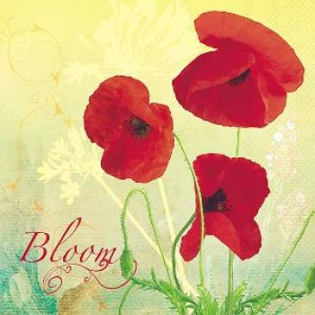 Bloom Poppy - Servietten 33x33 cm