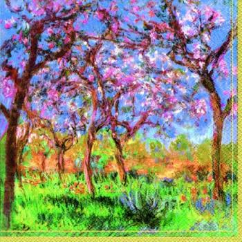 Monet Printemps a givern - Servietten 33x33 cm