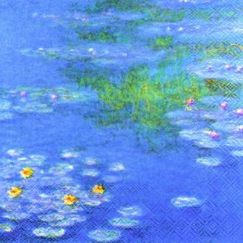 Monet Waterlilies - Servietten 33x33 cm