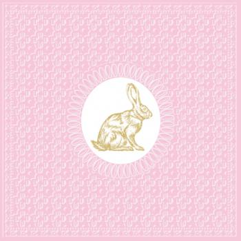 Medaillon Rabbit pink - Servietten 33x33 cm
