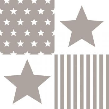 Stars Stripes Sand - Servietten 33x33 cm