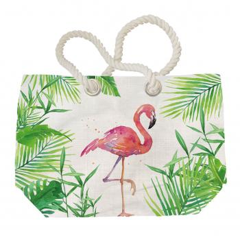 Tropical Flamingo - Beach Bag